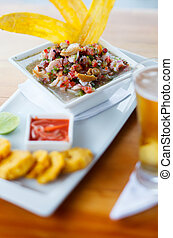 Plate of ceviche - Bowl of fresh ceviche popular dish in...
