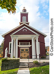 Country Church - A small Christian country church on a...
