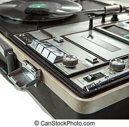 Controls of old vinyl turn table