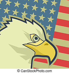 Eagle flag USA - Creative design of eagle flag USA