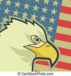 Eagle flag USA - Creative design of eagle flag USA