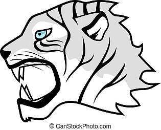 White tiger - Creative design of white tiger