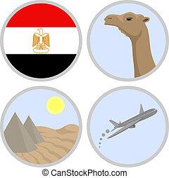 Egypt travel - Creative design of egypt travel