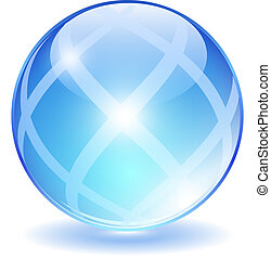 Abstract glass ball, vector illustration