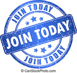 Join today vector stamp