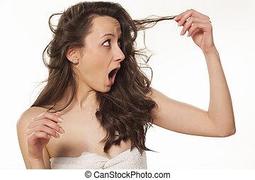Danificado, cabelo
