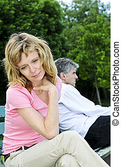 Mature couple having relationship problems - Mature man and...