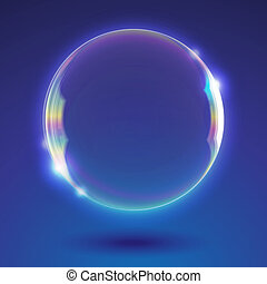soap bubble - vector abstract background with realistic soap...