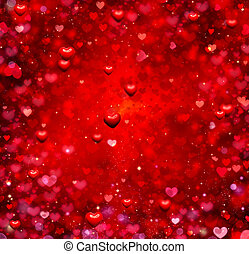 Valentine Hearts Background. Valentines Red Abstract...