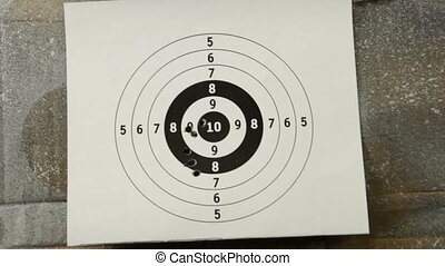 rifle range - shooting at bulls eye