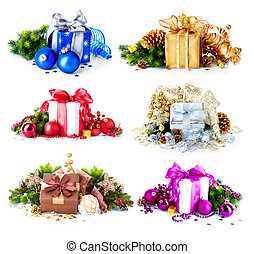 Christmas Gift Boxes and Decorations Set