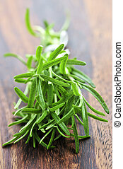 Bunch of fresh rosemary - Bunch of fresh herb rosemary close...