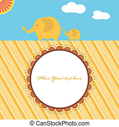 new baby shower card with elephants