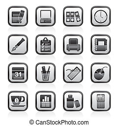 Business and office equipment icons