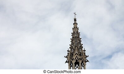 Basilica of the national vow, Quito - Steeple and lateral...