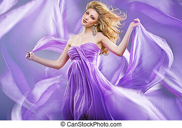 Stunning blonde like purple princess - Stunning blonde lady...