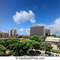 Harare - View on the town of Harare in Zimbabwe