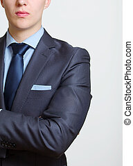 Elegant business man - Cropped view portrait of the partial...