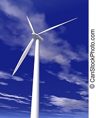 wind turbine - a 3d rendering of a wind turbine