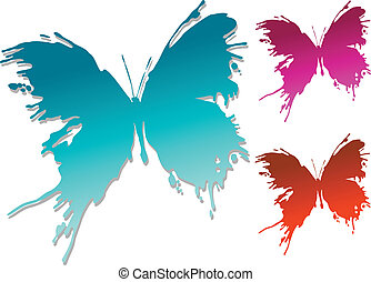 Colourful butterfly blots
