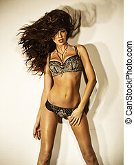 Slim beautiful woman with excellent body - Slim beautiful...