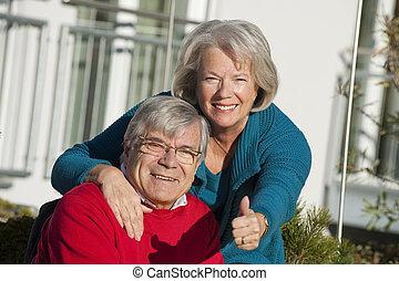 Senior couple outdoor