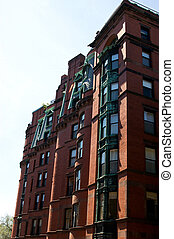 Boston, viejo,  brownstone