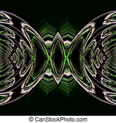 Abstract illustrated wonderful glass background object