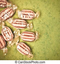 Humbug sweets  - Vintage toned image of humbug sweets