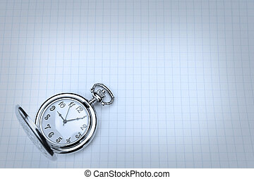 Pocket watches for notebooks in the cold blue.