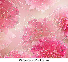 Flowers Abstract Design Art Background Floral Wallpaper