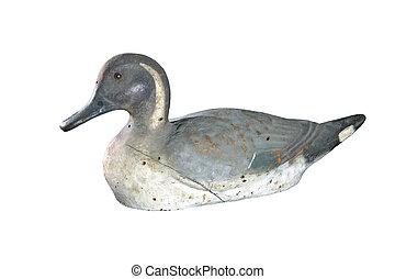 Vintage Duck Decoy - 1930's vintage fiberboard pintail duck...