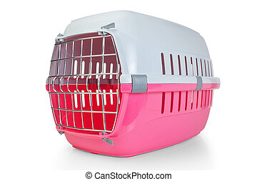 Cage for transporting pets, cats, dogs. With the door...