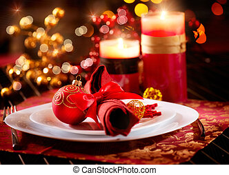 Christmas Table Setting Holiday Decorations