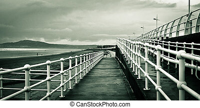 Beach walkway - A ramp walkway at Aberafan beach, South...