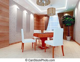 3D chess room