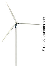 Wind power generator isolated on a white background