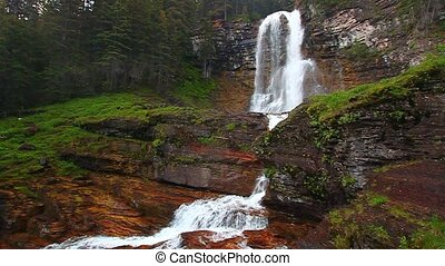 Virginia Falls in Montana - Virginia Falls of Glacier...