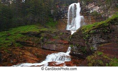 Virginia Falls in Montana - Virginia Falls of Glacier...