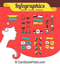 Fashion womens infographics
