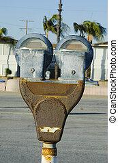 rusty parking meter