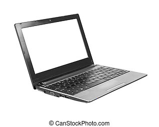 Generic netbook - Generic netbook with blank screen isolated...