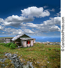Yukon - Keno Hill (Keno City), historic silver miner's...