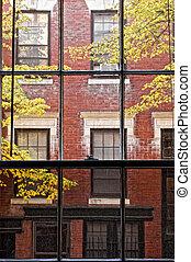 travers, fenêtre