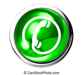Green telephone Icon