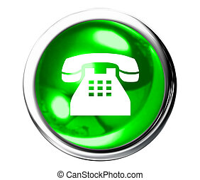 Green telephone Icon