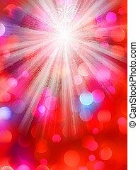 Colorful bokeh light background. EPS 8