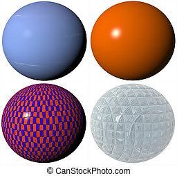 colored abstract pattern globe spheres high quality rendered from 3d