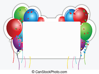 Birthday Card Paper - Vector Illustration Of Birthday Card...