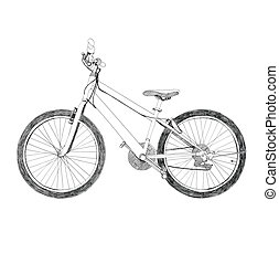 bicycle - Hand drawn